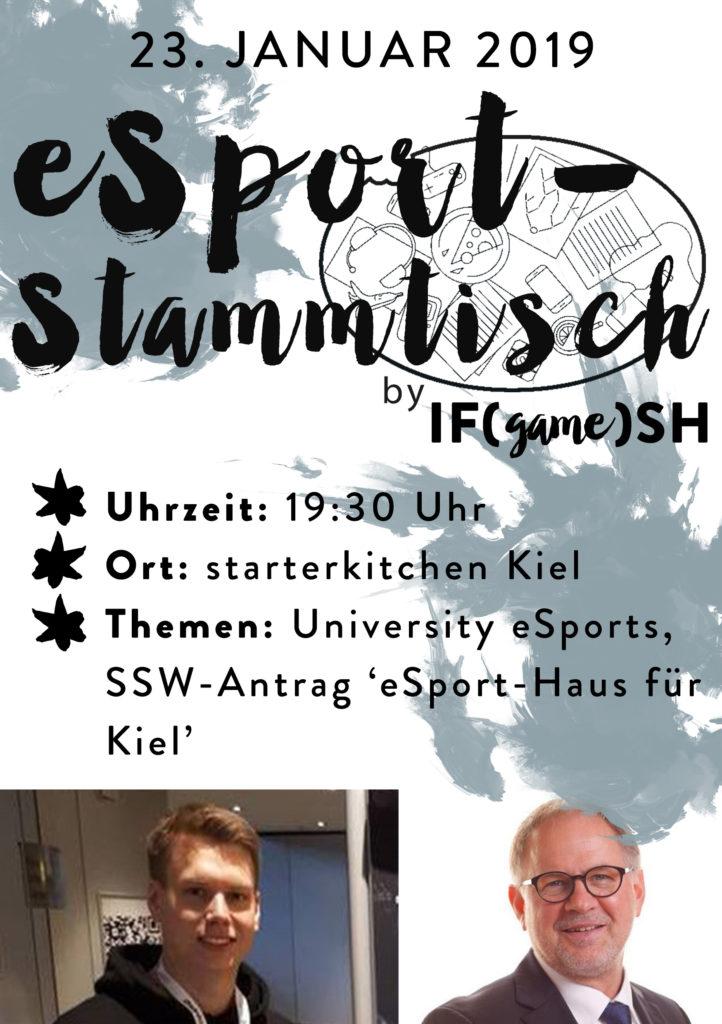 Flyer Erster eSport-Stammtisch