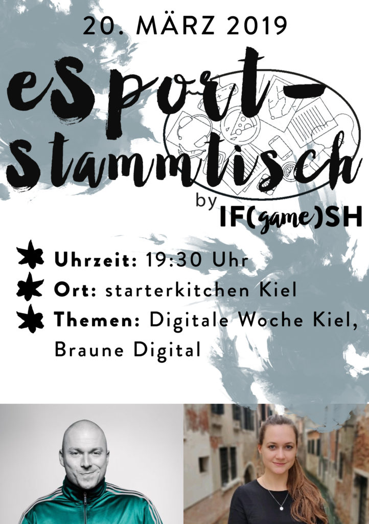 Flyer Dritter eSport-Stammtisch IFgameSH e.V.