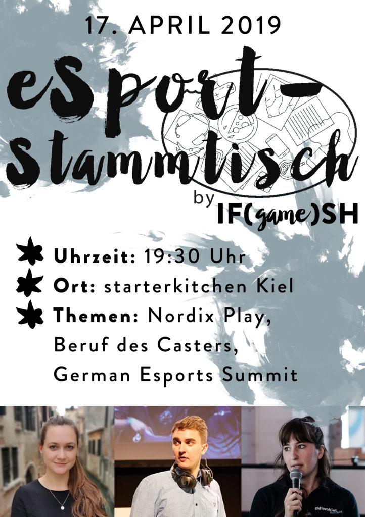 Flyer Vierter eSport-Stammtisch IFgameSH e.V.