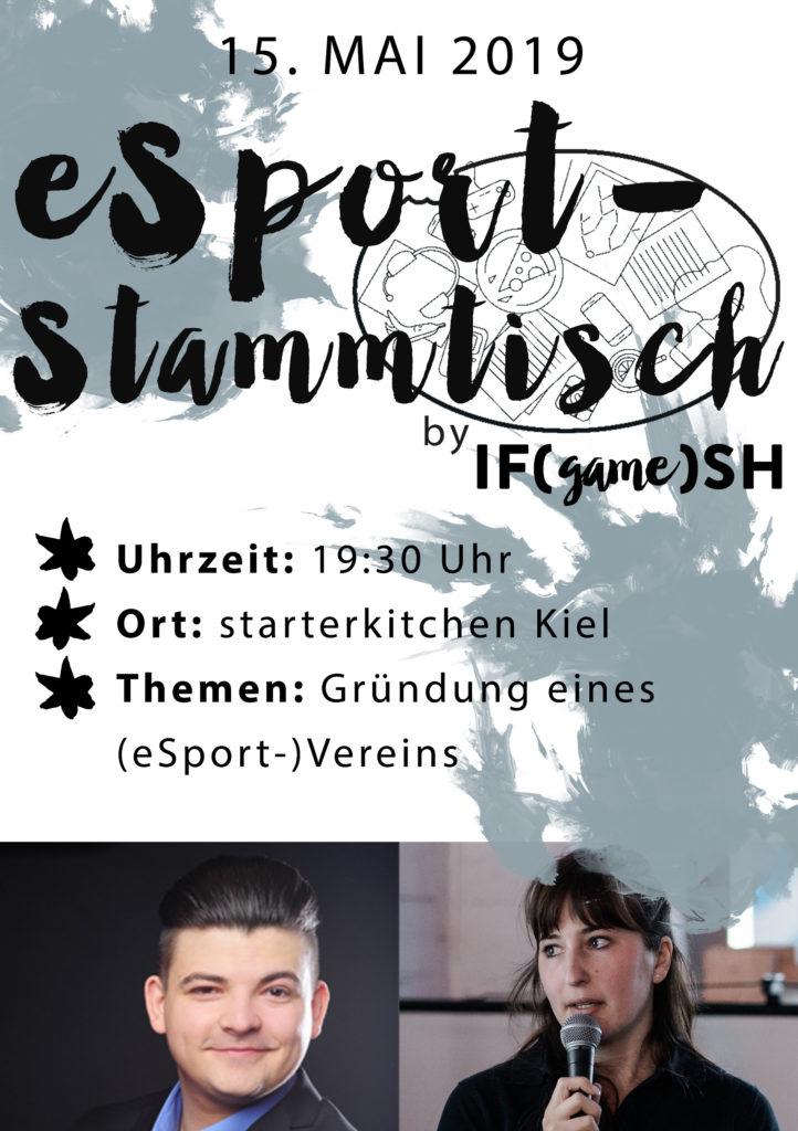 Flyer Fünfter eSport Stammtisch IFgameSH e.V.