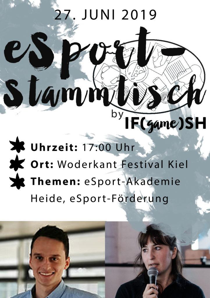 Flyer Sechster IFgameSH e.V. eSport-Stammtisch