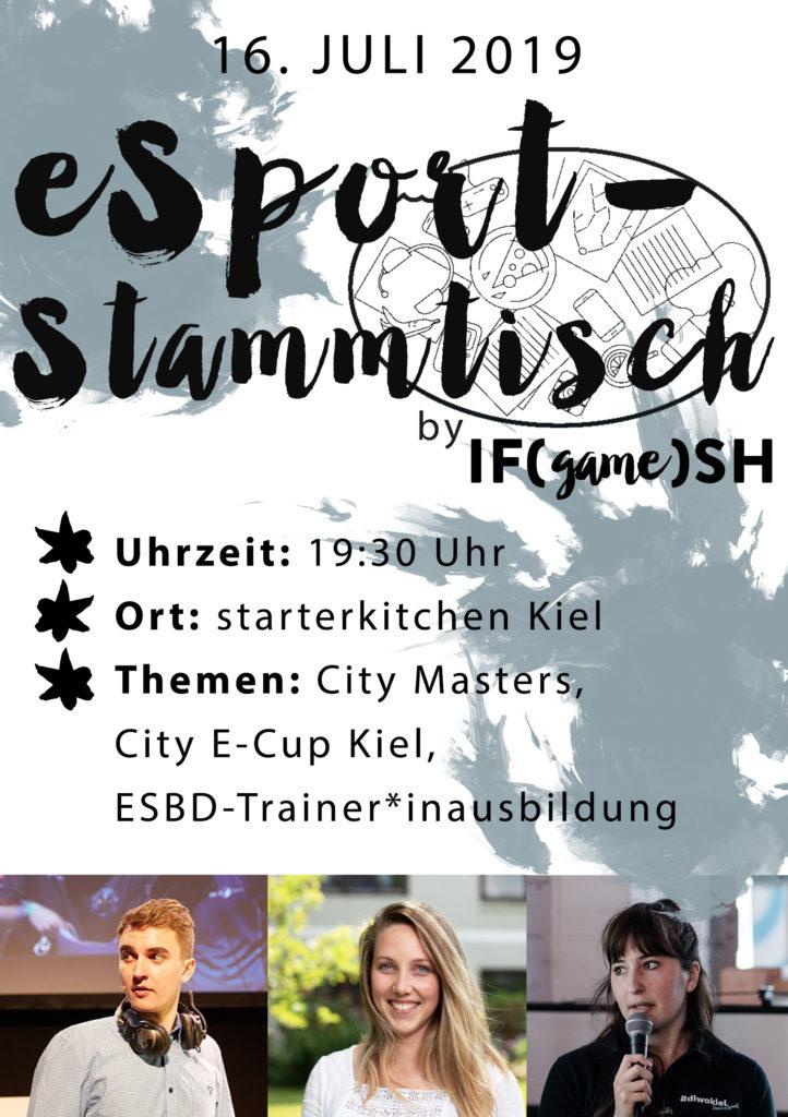 Flyer Siebter IFgameSH e.V. eSport-Stammtisch