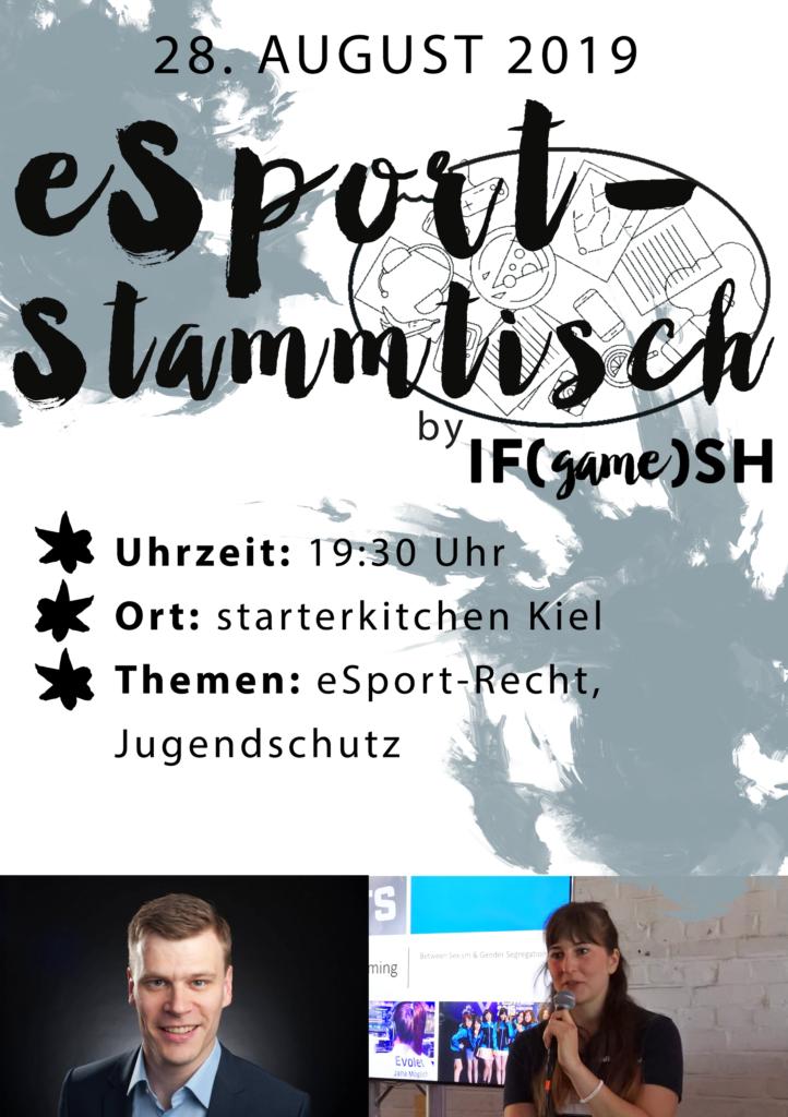 Flyer Achter IFgameSH e.V. eSport-Stammtisch