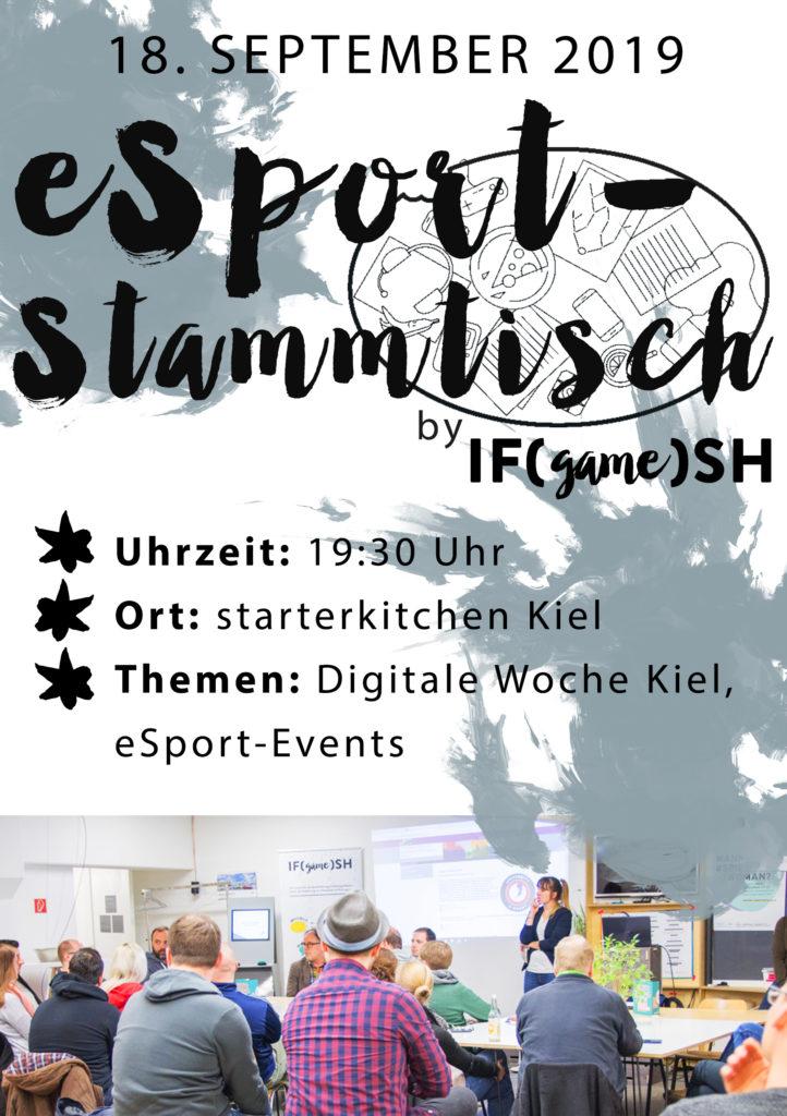 Flyer Neunter IFgameSH e.V. eSport-Stammtisch
