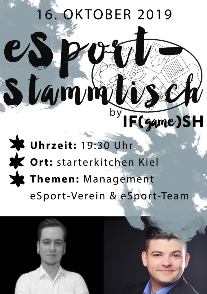 Flyer Zehnter IFgameSH e.V. eSport-Stammtisch