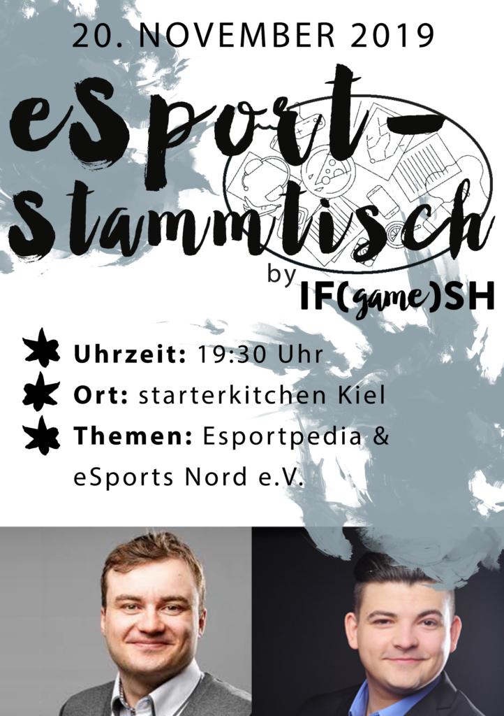 Flyer Elfter IFgameSH e.V. eSport-Stammtisch