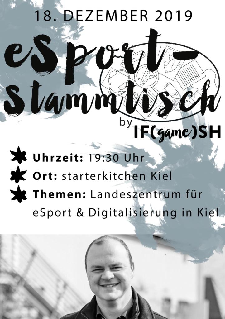 Flyer Zwölfter IFgameSH e.V. eSport-Stammtisch
