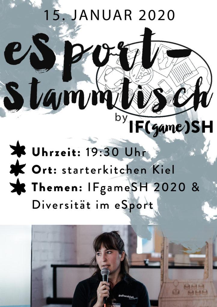 Flyer Dreizehnter IFgameSH e.V. eSport-Stammtisch