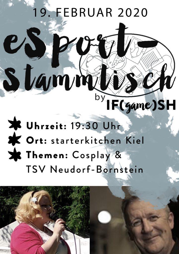 Flyer Vierzehnter IFgameSH e.V. eSport-Stammtisch